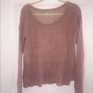 Kirra By Pacsun Medium Peach Ivory Gray Sweater